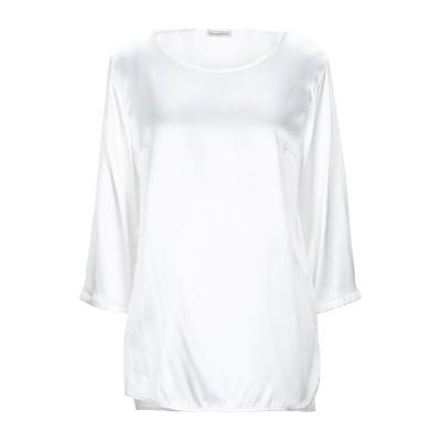 CAMICETTASNOB ブラウス ホワイト 46 シルク 95% / ポリウレタン 5% ブラウス