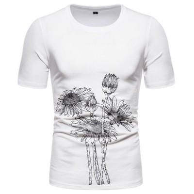 Tシャツメンズ Tシャツ メンズ 半袖  綿 夏 ゆったり  おしゃれ カジュアルシャツ vネック 柔らかい サーフ系 春夏 半袖Tシャツ メンズ  tシャツ uネック