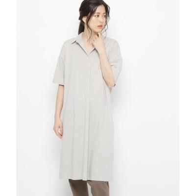 esche(エッシュ) スキッパーシャツ襟ワンピース