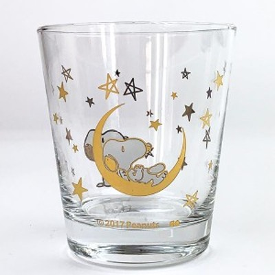 PEANUTS スヌーピー グラス STAR GOLD コップ 食器 ゴールド グッズ 日本製