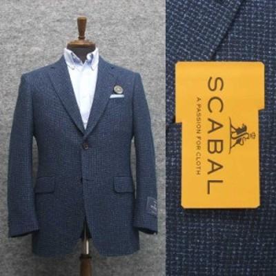 春夏物ジャケット [SCABAL] スキャバル オーダー生地使用 ベーシック2釦 青紺系  [AB体][BB体] メンズ SCB-J54