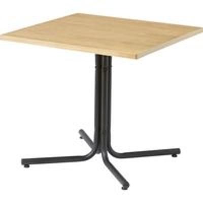 東谷東谷 ダリオ カフェテーブル 幅750×奥行750×高さ670mm ナチュラル END-223TNA 1台(直送品)