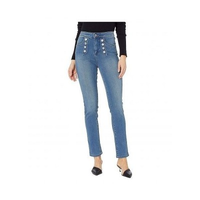 1.STATE ワンステート レディース 女性用 ファッション ジーンズ デニム Five-Pocket High-Rise Button Front Skinny Jeans in Mid Authentic Wash - Mid Aut..