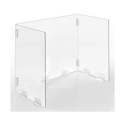 sumunior-600×305×400mm-透明アクリルパーテーション-高透明デスクパーテーション-組み立てやすいタイプデスクパーテーション
