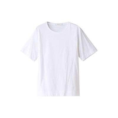 ANAYI アナイ スビンコットンクルーTシャツ レディース ホワイト 38