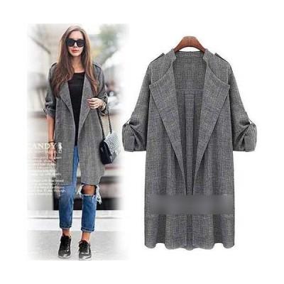 大きいサイズ レディース コート 羽織カーディガン 薄手 ジャケット 軽い 軽量 襟がインパクト大  送料無料