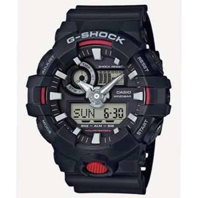腕時計 メンズ カシオ CASIO Gショック G-SHOCK アナデジ クオーツ GA-700-1A ブラック ブラック