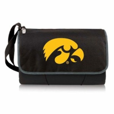 Picnic Time ピクニック タイム スポーツ用品  Iowa Hawkeyes Black Outdoor Picnic Blanket Tote