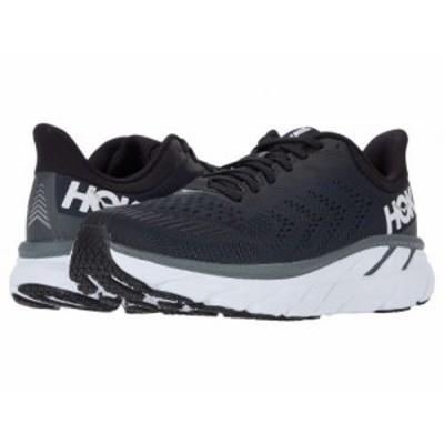 Hoka One One ホカオネオネ メンズ 男性用 シューズ 靴 スニーカー 運動靴 Clifton 7 Black/White【送料無料】