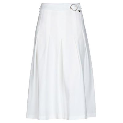 MANGANO 7分丈スカート ホワイト M ポリエステル 96% / ポリウレタン 4% 7分丈スカート