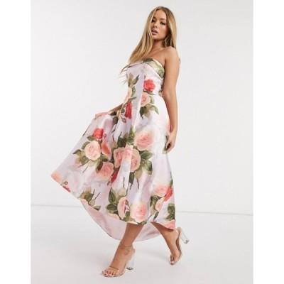 チチロンドン レディース ワンピース トップス Chi Chi London midaxi prom dress in floral print