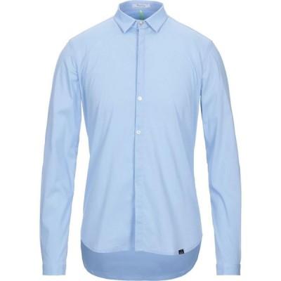 ベルナ BERNA メンズ シャツ トップス solid color shirt Sky blue