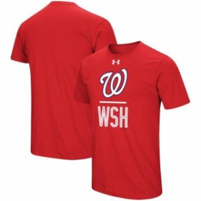 Under Armour アンダー アーマー スポーツ用品  Under Armour Washington Nationals Red Performance Slash T-Shirt