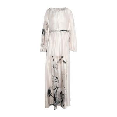 BLACK CORAL ロングワンピース&ドレス ライトグレー 42 シルク 100% ロングワンピース&ドレス