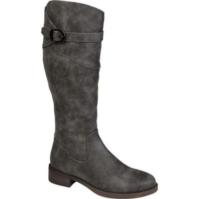 ジュルネ コレクション Journee Collection レディース ブーツ シューズ・靴 Brooklyn Boot - Extra Wide Calf Grey