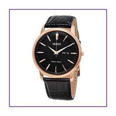 Orient FUG1R004B6 43mm Rose Gold Case Black Calfskin Mineral Men's Watch