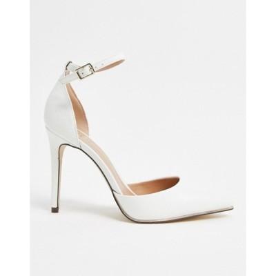 コールイットスプリング レディース サンダル シューズ Call It Spring by ALDO Iconis heeled pumps with ankle strap in white