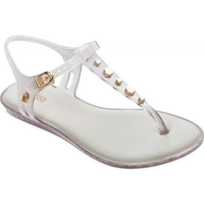 メリッサ melissa レディース サンダル・ミュール シューズ・靴 Solar V Studded T-Strap Sandal Beige/Gold