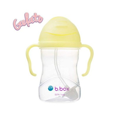 b.box(ビーボックス) ストローマグ 漏れない どんな角度からでも飲める 出産祝い シッピーカップ バナナスプリット