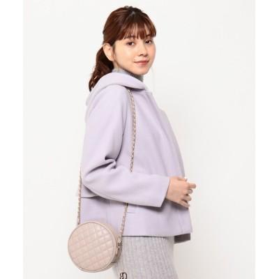 Couture brooch / 【新色追加・WEB限定サイズ(S)あり】メルトン風ジャージ バックフリルコート WOMEN ジャケット/アウター > ピーコート