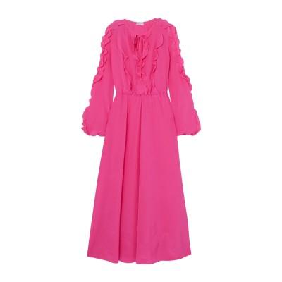 レッド ヴァレンティノ REDValentino 7分丈ワンピース・ドレス フューシャ 36 シルク 100% 7分丈ワンピース・ドレス