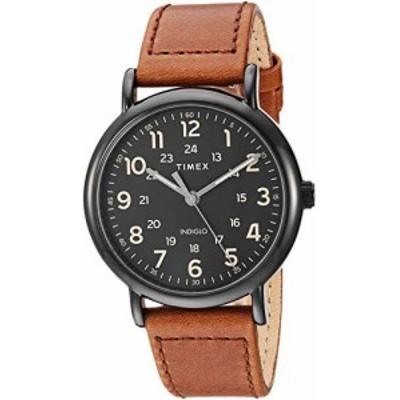 腕時計 タイメックス メンズ Timex Men's TW2T30500 Weekender 40mm Brown/Black Two-Piece Leather Stra
