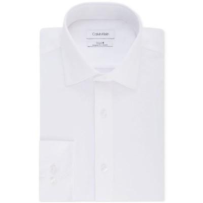 カルバンクライン メンズ シャツ トップス Calvin Klein Men's STEEL Classic/Regular Fit Non-Iron Performance Stretch Fineline Dress Shirt