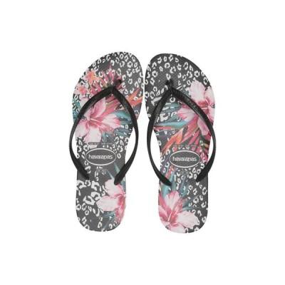 ハワイアナス Havaianas レディース ビーチサンダル シューズ・靴 Slim Animal Floral Black