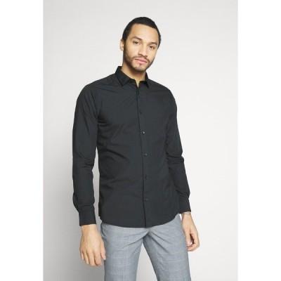 オンリーアンドサンズ シャツ メンズ トップス ONSSANE SOLID POPLIN - Shirt - black
