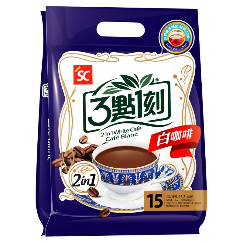 【3點1刻】白咖啡2合1 (15入/袋)