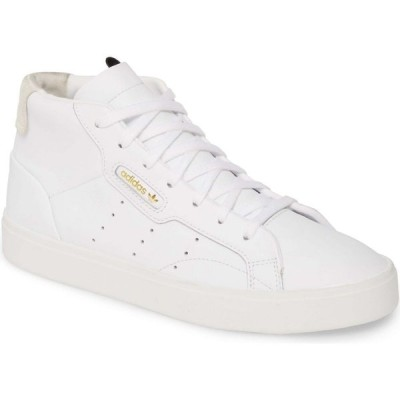 アディダス ADIDAS レディース スニーカー シューズ・靴 Sleek Mid Sneaker White/White/Crystal White