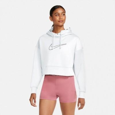 ナイキ パーカー・スウェットシャツ アウター レディース Nike Women's Therma Cropped Pullover Training Hoodie White