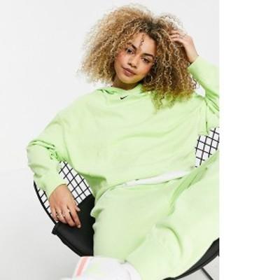 ナイキ レディース パーカー・スウェット アウター Nike washed hoodie in neon green Neon green