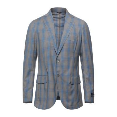 TOMBOLINI テーラードジャケット パステルブルー 48 バージンウール 100% テーラードジャケット