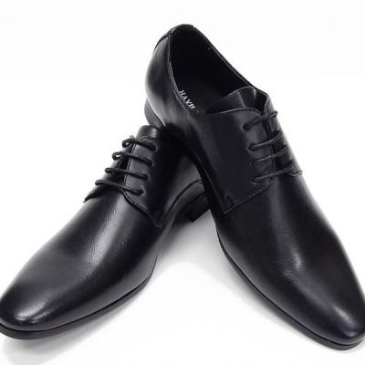 ビジネスシューズ  黒 プレーントゥ 紳士靴 メンズ 合成皮革 革靴/SHM396