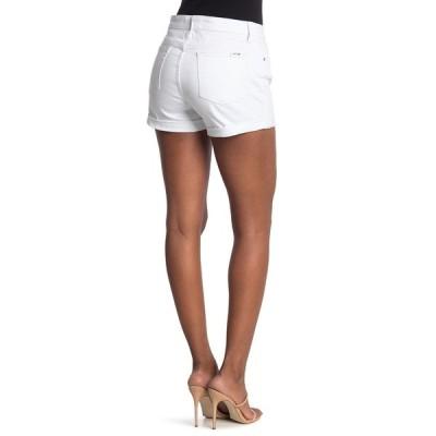 ジョーズジーンズ レディース カジュアルパンツ ボトムス Mid Rise Cuff Hem Shorts WHITE