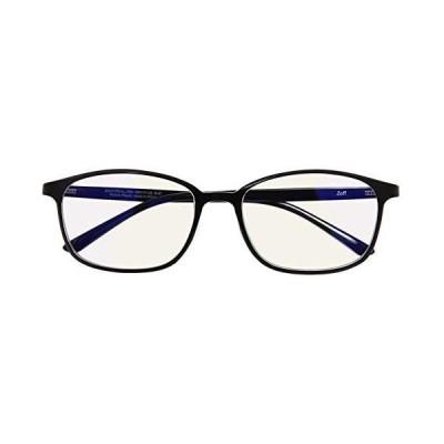 ウェリントン型 PCメガネ(度なし)|Zoff PC ULTRA TYPE(ブルーライトカット率約50%)|ゾフ PC 透明レンズ (ブラック)