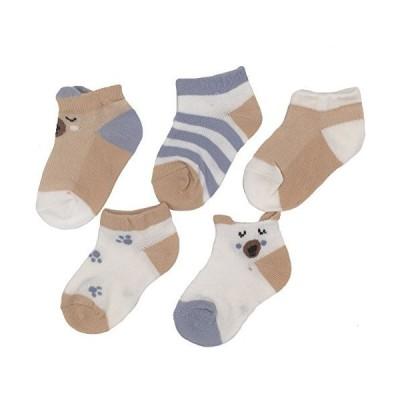 Sandy ting 5足セットキッズ靴下 子供 くるぶしソックス 幼児用 夏 薄手 柔らかいメッシュ ベビー カラフル 男の子 女の子 コットン 吸