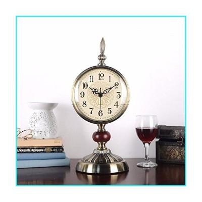 WAWZJ-wall clock American Clock Clock Antique Living Room European Style Mute Bedroom Clock Pendulum Metal Table Pendulum