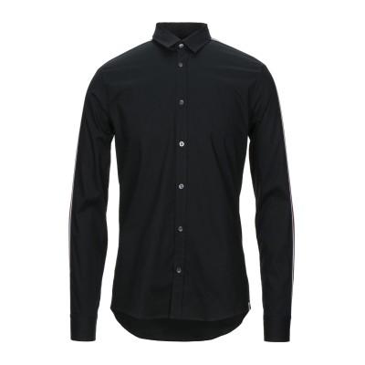 LHU URBAN シャツ ブラック 46 コットン 96% / ポリウレタン 4% シャツ