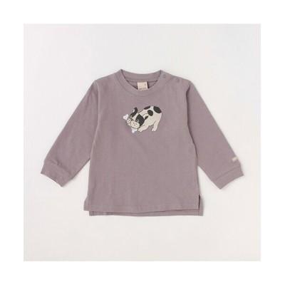 petit main/プティマイン 【お肌にやさしい弱酸性】アニマルTシャツ グレ- 100
