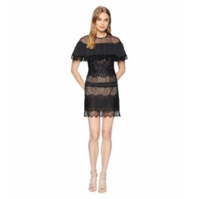 Halston Heritage ホルストンヘリテイジ ドレス 一般 Short Sleeve Pleated Lace Dress w/ Beading