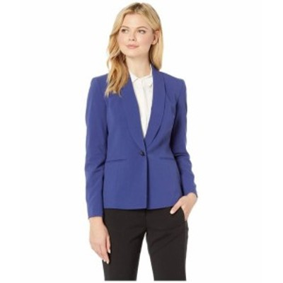 Nine West ナインウェスト 服 一般 One-Button Shawl Collar Stretch Jacket