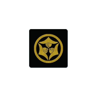家紋シール 中輪に嘴合わせ三つ雁金紋 24cm x 24cm KS24-2357