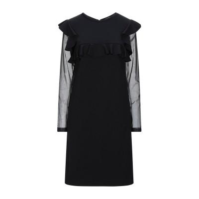 D.EXTERIOR ミニワンピース&ドレス ブラック 42 レーヨン 69% / ナイロン 25% / ポリウレタン 6% ミニワンピース&ドレス