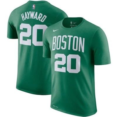 ナイキ メンズ Tシャツ トップス Gordon Hayward Boston Celtics Nike Player Name & Number Performance T-Shirt