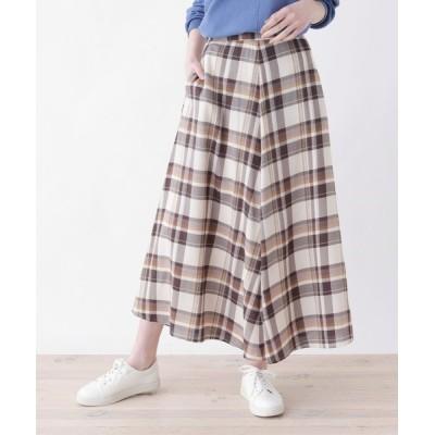 SHOO・LA・RUE / 【M-L】チェック柄マキシ丈スカート WOMEN スカート > スカート