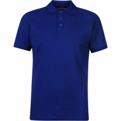 ピエール カルダン Pierre Cardin メンズ ポロシャツ トップス Plain Polo Shirt Royal Blue