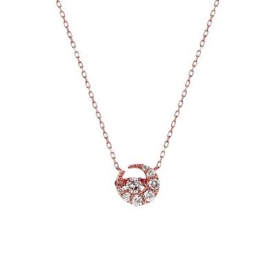ネックレス レディース ダイヤモンド 10金 ピンクゴールド 10k K10 ESTELLE エステール