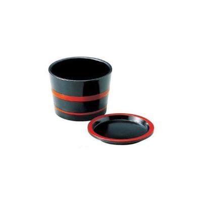 3.1寸桶型薬味皿 黒朱ひも(つゆ入別途)